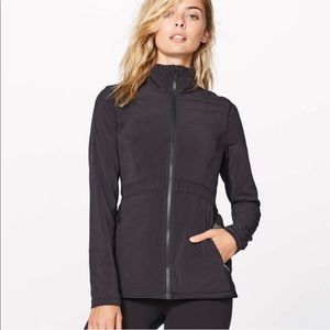 Lululemon Round Trip Jacket Zip Up Pockets Black